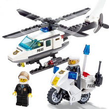 Load image into Gallery viewer, Helicopter motorcycle block toys