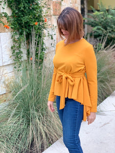 Bow Tie Asymmetrical LS Top