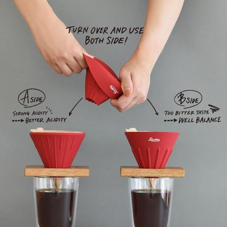 Coffee Dripper cave reversible-red