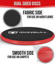 black-red advanced gliding discs features