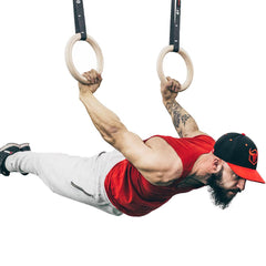 back lever calisthenics workout on wooden rings