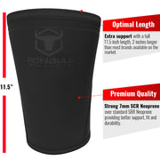 black iron bull strength 7mm knee sleeves features