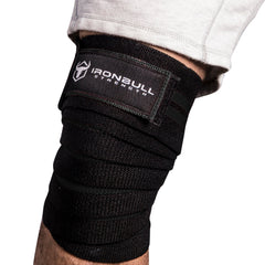black iron bull strength knee support wraps