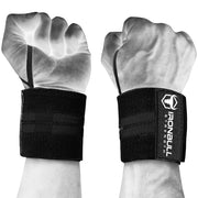 black wrist support wraps with thumb loop