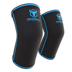 black-blue powerlifting elbow sleeve iron bull strength