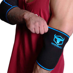 black-blue elbow protection sleeves for fitness
