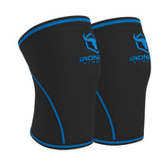 black-blue iron bull strength 7mm knee sleeves side view
