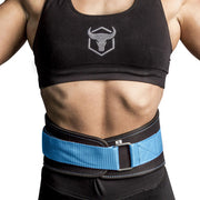 black-sky-blue iron bull strength women weight lifting belt