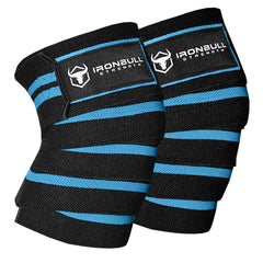 black-cyan knee wraps for pain free squats