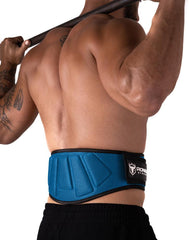 cyan padded squat and powerlifting belt