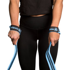 black-sky-blue weight lifting straps for better grip