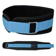 black-sky-blue women weight lifting belt back support for squat and deadlift