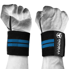 black-cyan wrist support wraps with thumb loop