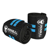 black-cyan wrist wraps for weight lifting