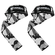 camo-white lifting support straps for powerlifting