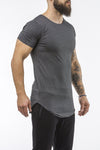 charcoal workout t-shirt o-neck comfortable shirt