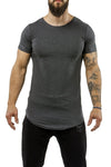 charcoal workout t-shirt scoop neck casual wear