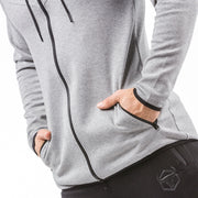 gray best gym zip hoodie from iron bull strength