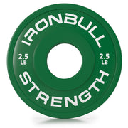 2-5-lb green fractional bumper plate front view