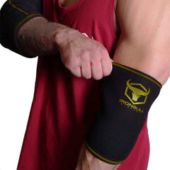 black-army-green elbow protection sleeves for fitness