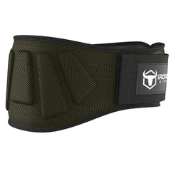 army-green iron bull strength 6 inches nylon weightlifting belt
