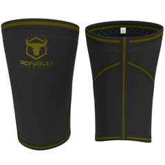 black-army-green iron bull strength 7mm knee sleeves front and back