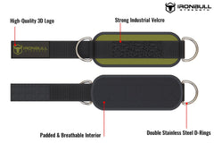army-green iron bull strength nylon ankle straps features