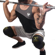 black-army-green knee protector sleeves for squats