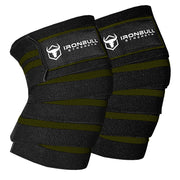 black-army-green knee wraps for pain free squats