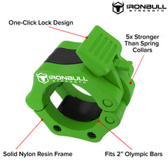 green nylon barbell collar features