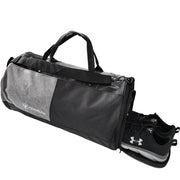 black gym duffle bag shoes compartment showcase