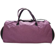 fuchsia gym duffle bag back view