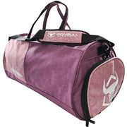 fuchsia gym duffel bag side view