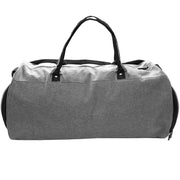 gray gym duffle bag back view