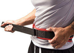 how to put on a powerlifting training belt