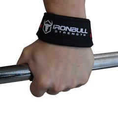 black-red improved grip from lifting straps
