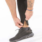 black iron bull strength zip pockets joggers ankle zip feature