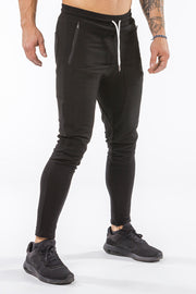 black iron bull strength joggers classic zip pockets