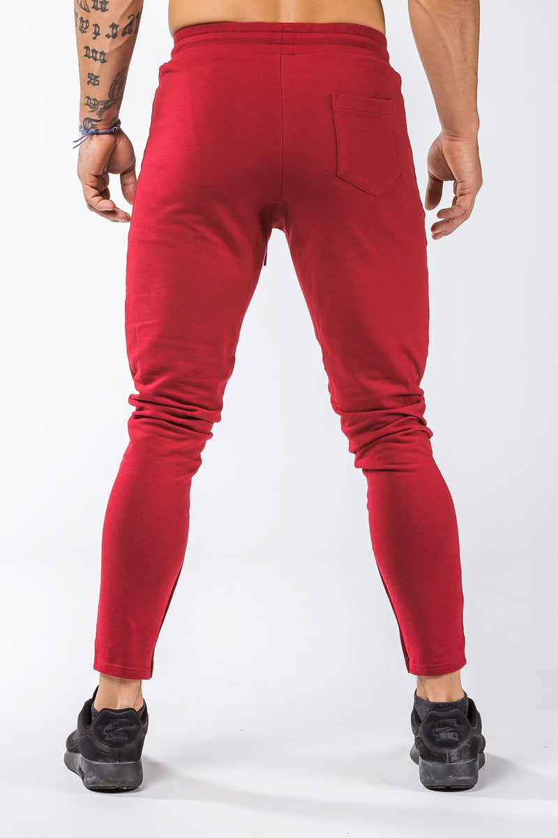 burgundy iron bull strength joggers nice butt