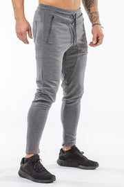 gray iron bull strength men joggers classic zip pockets