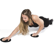 black gliding discs shoulder exercises