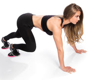 black-pink gliding discs abs exercises