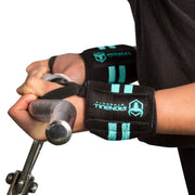 black-mint women wrist wraps biceps curl