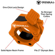 orange green nylon barbell collar features
