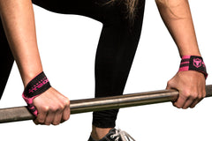 black-pink colored lifting straps for women canada