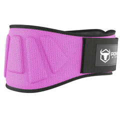pink iron bull strength 6 inches nylon weightlifting belt