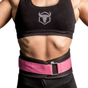 black-pink iron bull strength women weight lifting belt