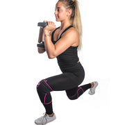 black-pink knee protector sleeves for lunges