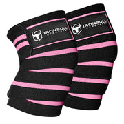 black-light-pink knee wraps for pain free squats