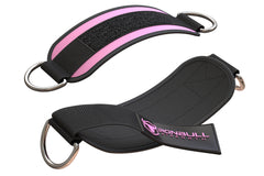 light-pink nylon ankle straps for legs workout